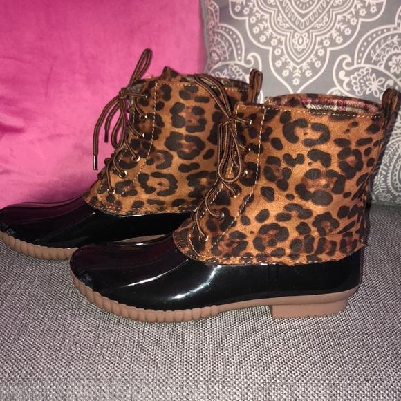 Yoki Shoes | Leopard Duck Boots Fits